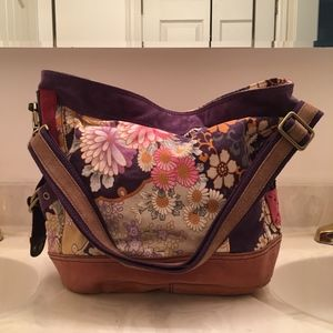 Lucky Brand Slouchy Floral Hobo Bag